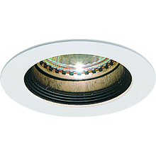 Nora NM-243W - MR11 Mini Halogen Black Baffle, White Ring with Housing