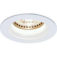 Nora NM-244W - MR11 Mini Halogen White Baffle, White Ring with Housing