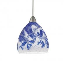 WAC US MP-536-BL/BN - Cameo Monopoint Pendant - Blue Shade with Brushed Nickel Socket Set, Canopy Included