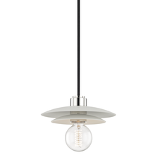 Hudson Valley H175701S-PN/WH - 1 Light Small Pendant